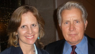 Nancy Frey with Martin Sheen