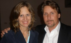 Nancy Frey with Emilio Estevez