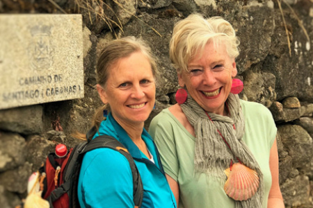 Maggie Beer with On Foot in Spain