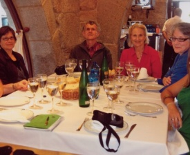 Dinner in Baiona Photo – L. Gerrish
