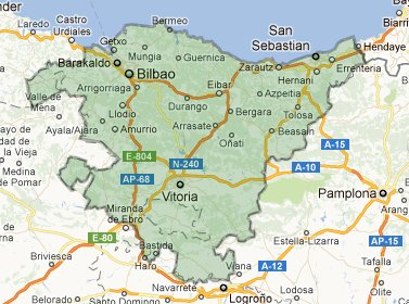 Basque France Map.Basque Country On Foot In Spain