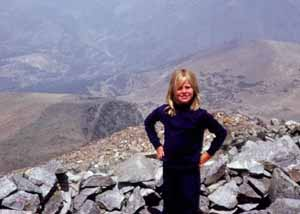 Nancy on top of Mt. Dana, Yosemite circa 1978