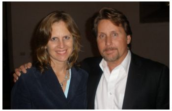 Nancy and Emilio Estevez